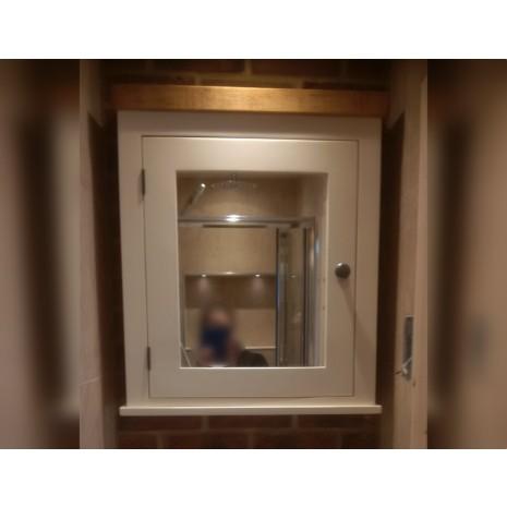 Painted One Door Mirror Cabinet