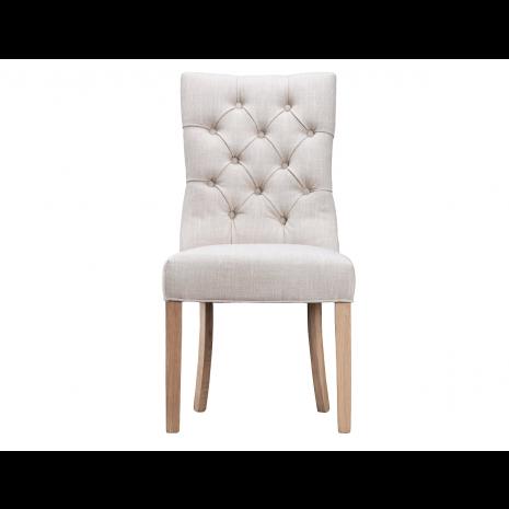 Luxury Buttonback Chair - Beige