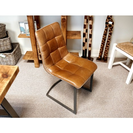 Industrial Leather Chair (with trim)