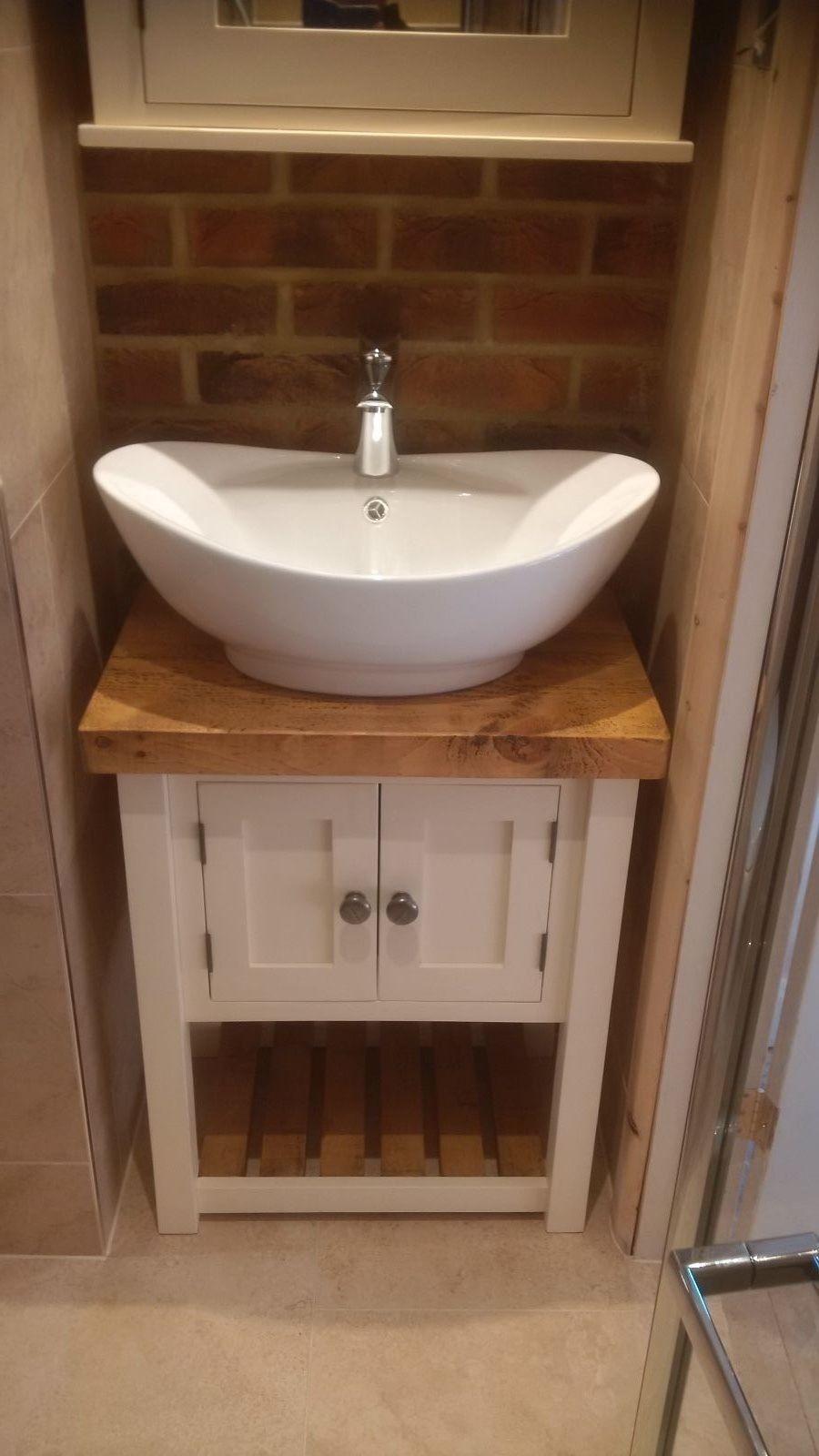 Rustic Washstand Papplewick Vanity Unit Raw Furniture