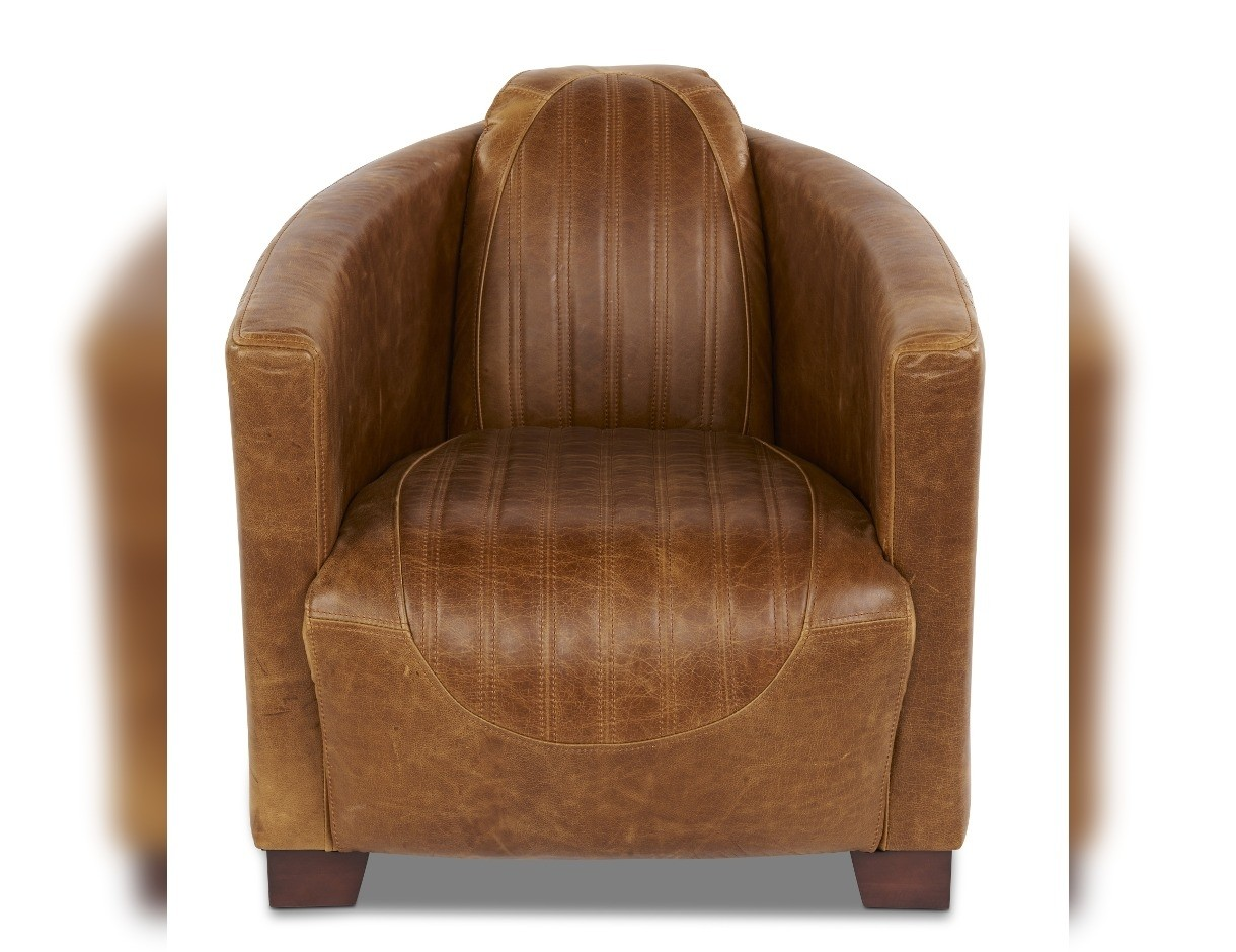 Exceptionnel Rocket Fluted Leather Chair