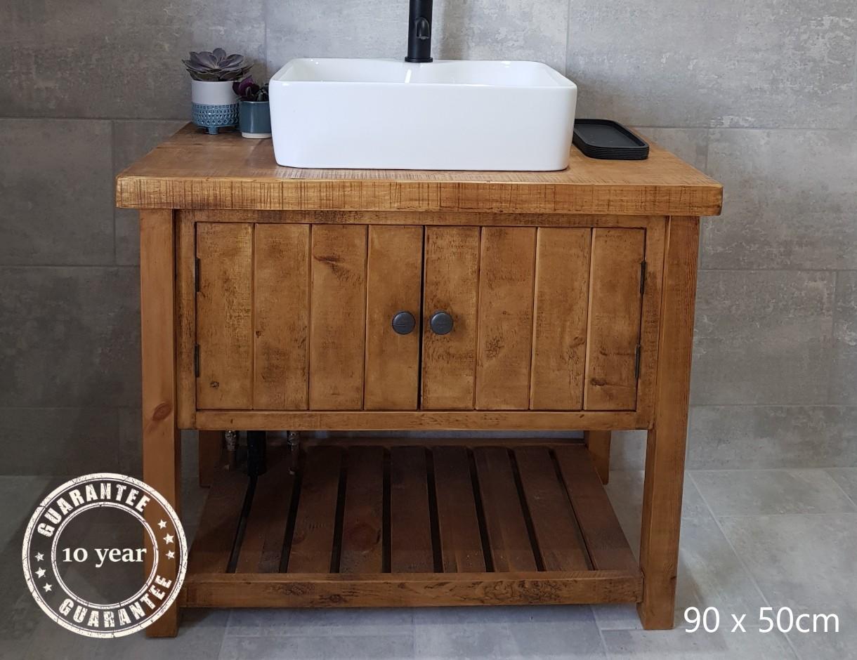 Wood Bathroom Vanity Unit Image Of Bathroom And Closet