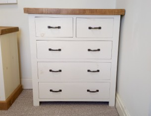 Two-over-Three Chest of Drawers