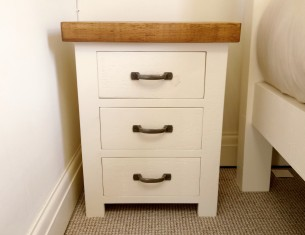 Alpine Three-Drawer Bedside