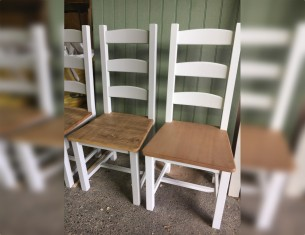 Amish Painted Choice of Beech or Rustic Seat