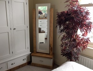 Aspen Cheval Mirror with Drawer