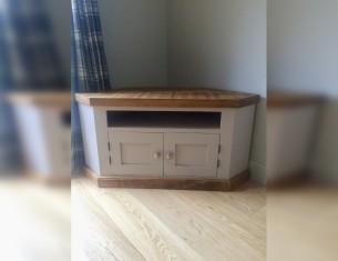 Grey Aspen Corner TV Cupboard