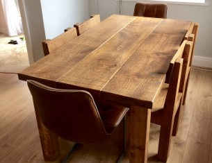 "Clumber Beam 2"" Top Table"