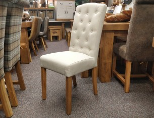 Buttonback Chair - Beige