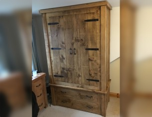Farmhouse Double Gents Wardrobe