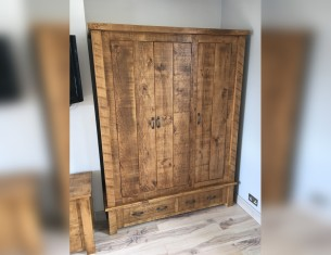 Forest Triple Wardrobe with Drawers