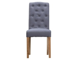 Buttonback Chair - Grey