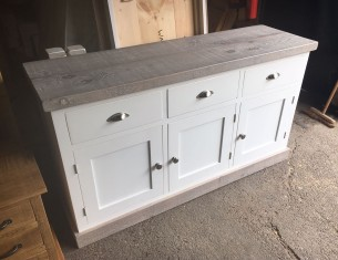 Aspen Greywash Large Sideboard