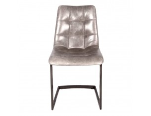Industrial Grey Real Leather Chair