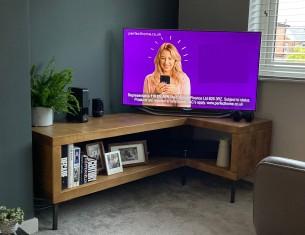 Industrial Qube Corner TV Unit