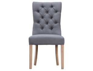 Luxury Buttonback Chair - Grey