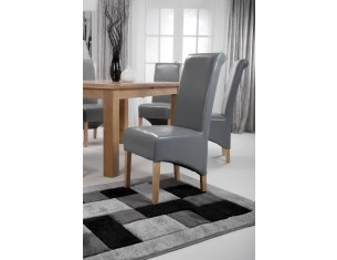 Grey Leather Rollback Chair