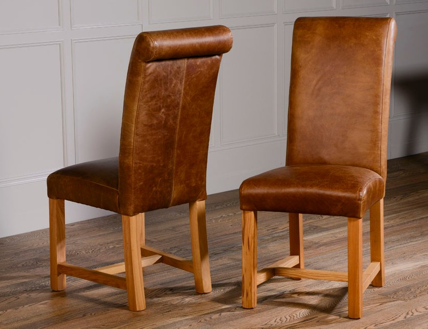Rollback Dining Chair in Leather